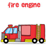 Transport of fire engine cartoon design. Vector illustration Royalty Free Stock Photos