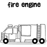Transport of fire engine vector art. Collection stock Stock Photos