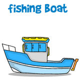 Transport of fishing boat vector Royalty Free Stock Photography