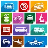 Transport flat icon, bright color-06 Royalty Free Stock Image