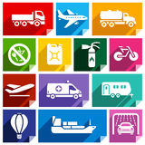 Transport flat icon, bright color-02 Stock Photography