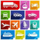 Transport flat icon, bright color-07 Stock Image
