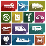 Transport flat icon-02 Stock Photos