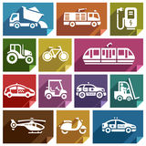 Transport flat icon-06. Transport flat icons with shadow, stickers square shapes, retro colors - Set 06 Stock Image