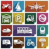 Transport flat icon-08 Stock Photos