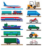 Transport. Flat icons. Royalty Free Stock Photography