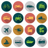 Transport flat icons Stock Image