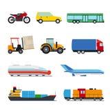 Transport flat icons set Stock Image