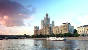 Transport fluvial de Moscou banque de vidéos