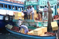 Transport food to island Stock Photos