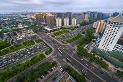 Transport in Fuchengmen von Peking lizenzfreies stockbild