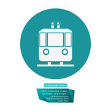 Transport funicular cable car passeger pictogram Stock Images