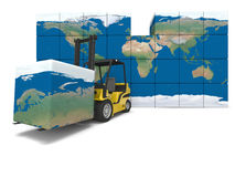 Transport global illustration stock