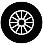 Car wheel Vector icon which can be easily modified or edit in any color stock illustration