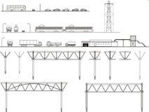 Transport graphique d'éléments, conceptions Illustration Libre de Droits