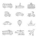 transport Graphismes de vecteur Photos stock