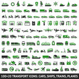 100 AND 20 Transport green Royalty Free Stock Images