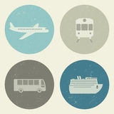 Transport grunge icons. Royalty Free Stock Photos
