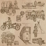 Transport - an hand drawn vector pack. Royalty Free Stock Images