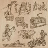 Transport - an hand drawn vector pack. Stock Photography
