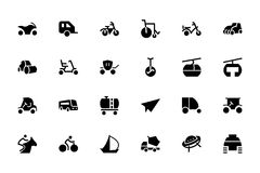 Transport-Hand gezeichnete Gekritzel-Ikonen 4 Stockbild
