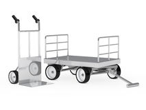Transport hand truck and trolley Royalty Free Stock Photo
