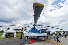 Transport helicopter Mil Mi-8MSB. Royalty Free Stock Photo