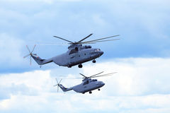 Transport helicopters Royalty Free Stock Photo