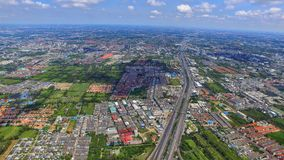 Transport highway stucture Thailand drone ariel view top landmark Stock Photography