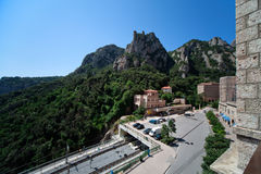 Transport hub on Montserrat in Spain Royalty Free Stock Image