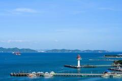 Transport i den Koh Si Chang ön Arkivfoton