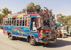 Transport i Pakistan arkivbild