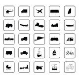 Transport icon black vector Royalty Free Stock Images