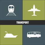 Transport icon blue and green background Royalty Free Stock Photo
