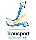 Transport icon. Design symbol for road transport industry Royalty Free Stock Photos