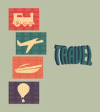 Transport icon. Gray over background  illustration Royalty Free Stock Photography