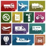 Transport icon-02 plat Photos stock