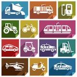 Transport icon-06 plat Image stock