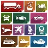 Transport icon-07 plat Photo stock