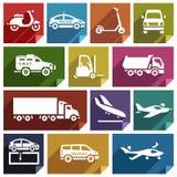 Transport icon-05 plat Image stock