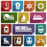 Transport icon-01 plat illustration stock
