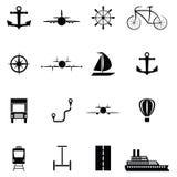 Transport icon set. The transport of icon set Royalty Free Stock Photos