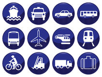 Transport icon set Stock Photography