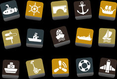Transport Icon Set Royalty Free Stock Photos