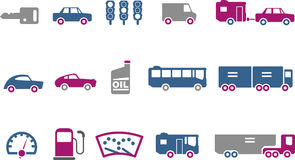 Transport Icon Set Stock Photos