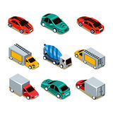 Transport Icon Set. Flat 3d Isometric Royalty Free Stock Image