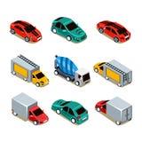 Transport Icon Set. Flat 3d Isometric Royalty Free Stock Image