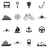 Transport icon set. The transport of icon set Royalty Free Stock Photography