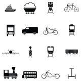 Transport icon set. The transport of icon set Royalty Free Stock Photo