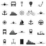 Transport icon set. The transport of icon set Stock Photos